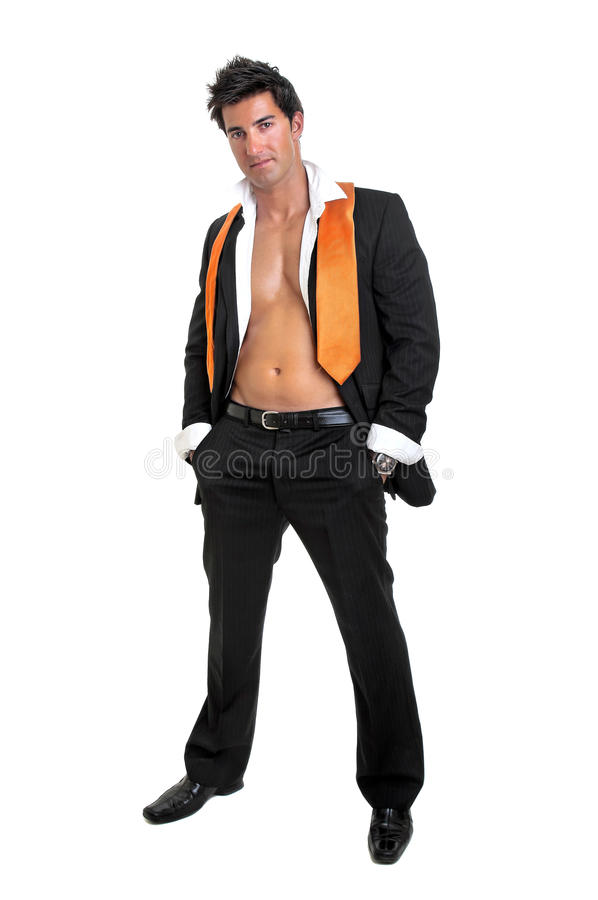 Fashionable man stock photos