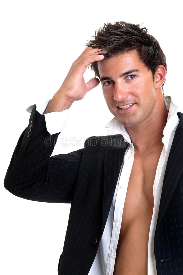 Fashionable man royalty free stock photos