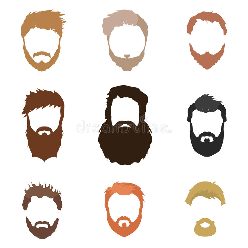 Fashionable Men S Hairstyle Beard Face Hair Cut Out
