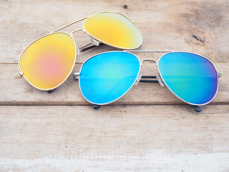 Fashionable mirror sunglasses stock photography
