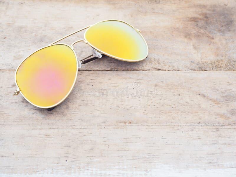 Fashionable mirror sunglasses royalty free stock photos