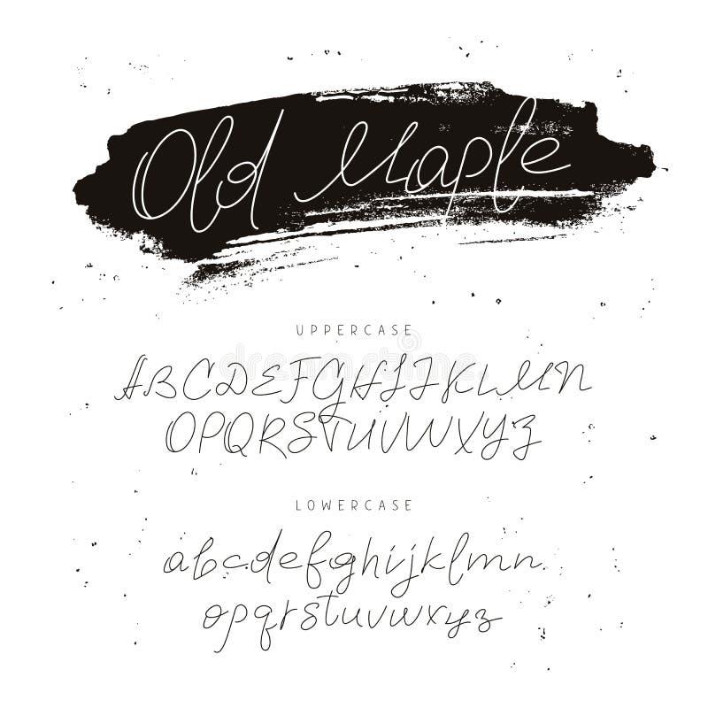 Modern font. Alphabet. Calligraphy and lettering. vector illustration