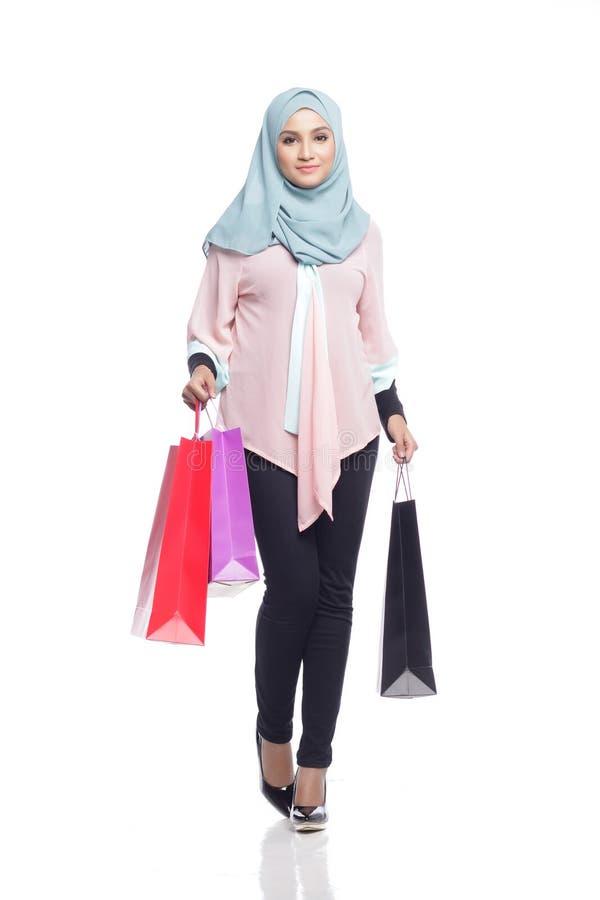 Fashionable muslimah woman stock photography