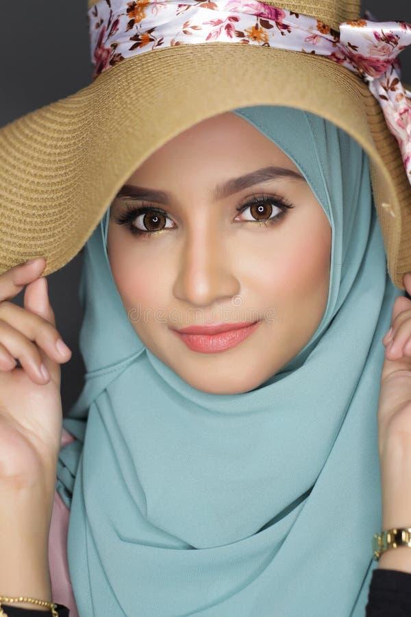 Fashionable muslimah woman stock photo