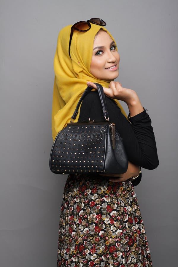 Fashionable muslimah woman stock photos