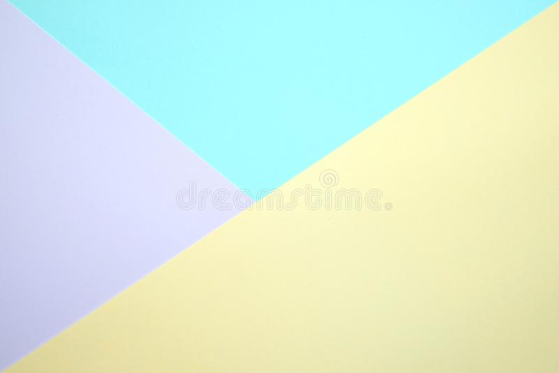 Fashionable pastel colored paper flat lay top view, geometric b royalty free stock image