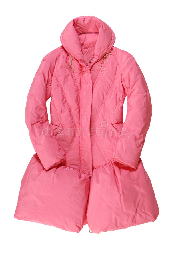 Fashionable pink padded coat royalty free stock photography