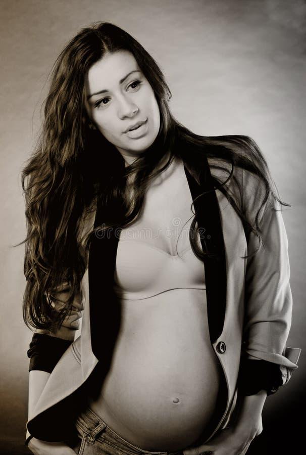 Download Fashionable preganacy stock photo. Image of pretty, breasts - 17846852