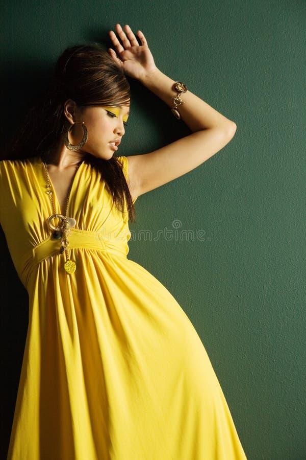Fashionable pretty Asian girl stock photography