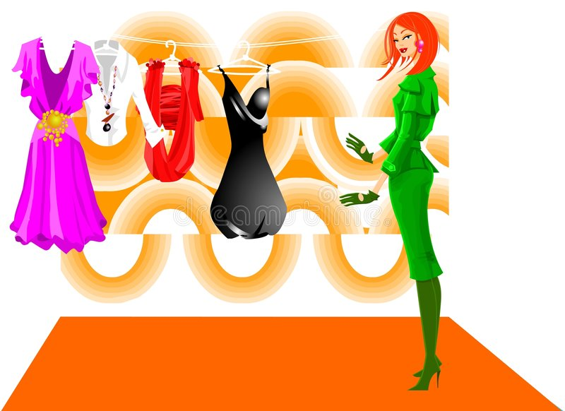 Fashionable Silhouette royalty free stock image