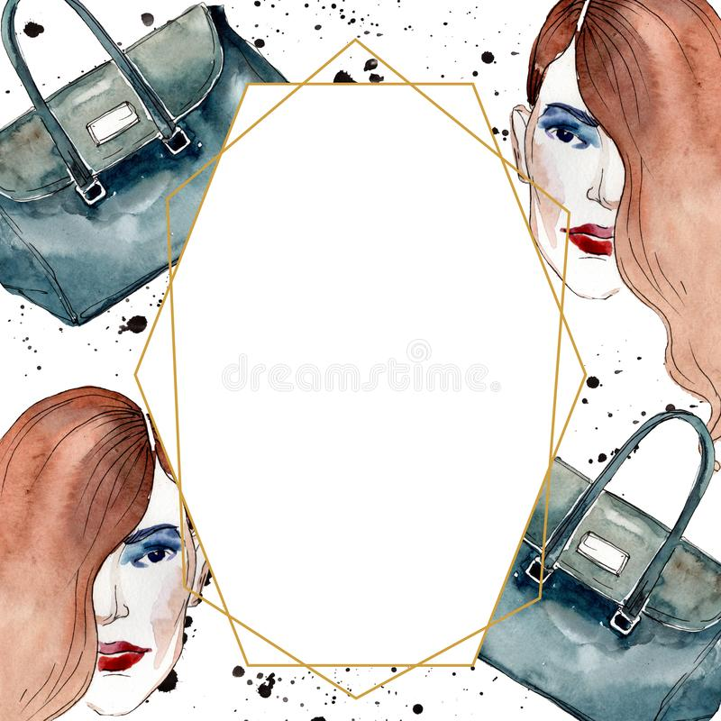 Fashionable sketch in a watercolor style element. Watercolour background illustration set. Frame border ornament square. vector illustration
