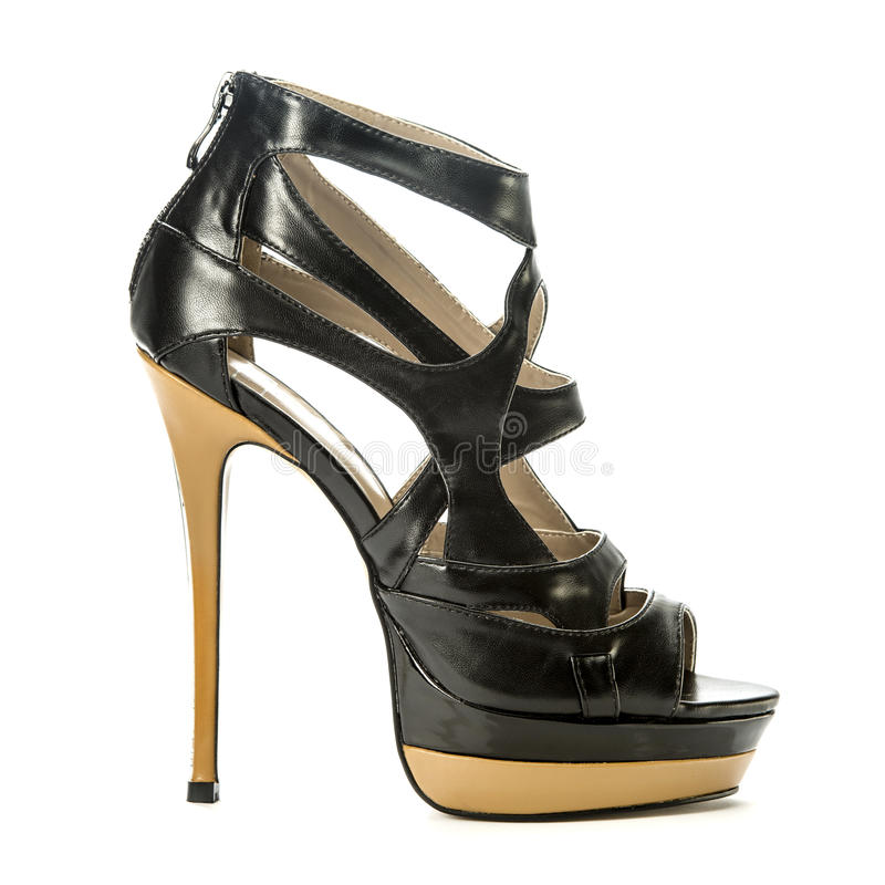 Fashionable stiletto high heels shoes stock images
