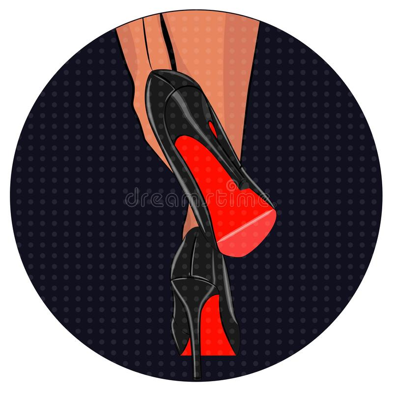 Free Fashionable. Stylish Woman. Vector Illustration Of A Girl On High Heels. Glamour. Legs In Shoes. Female High Heels. Women. Vogue Stock Photography - 162611722