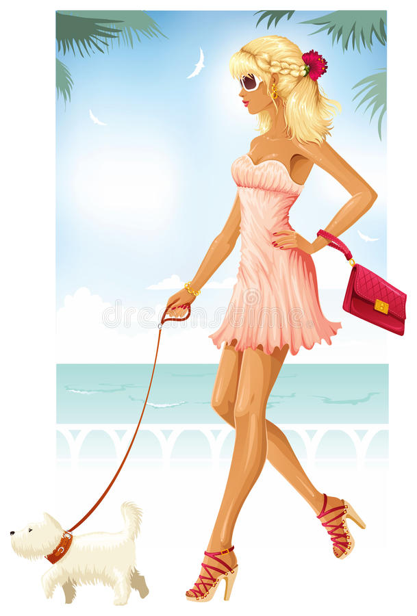 Download Fashionable summer stock vector. Image of fashion, illustration - 18850812