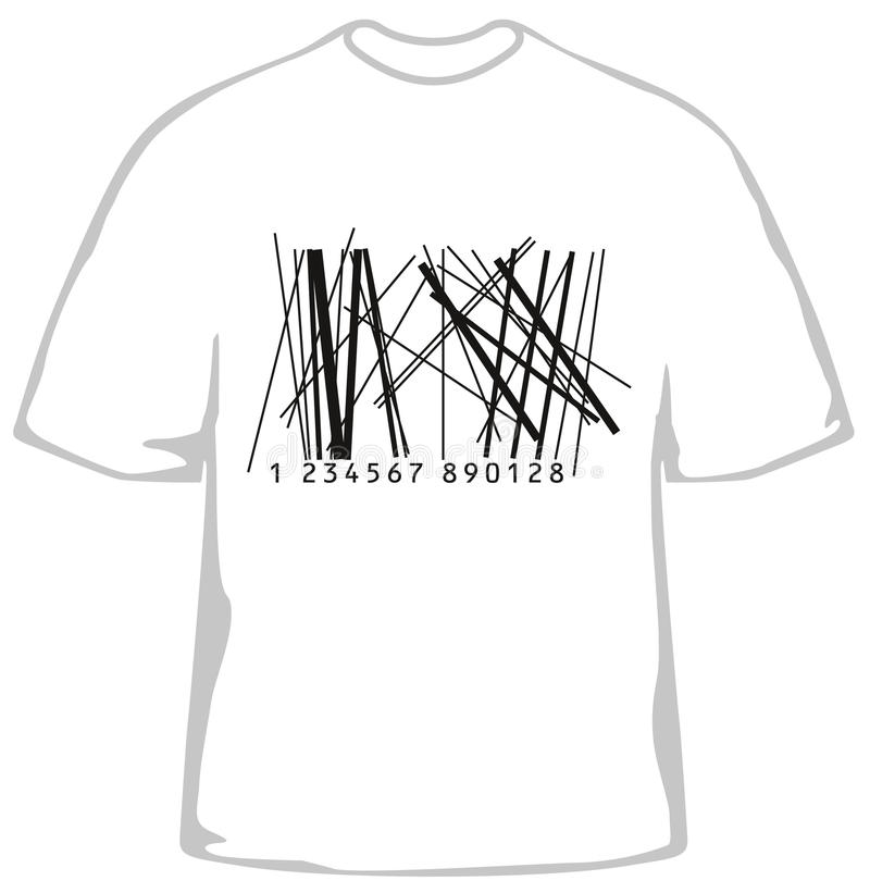 Fashionable t-shirt with barcode vector illustration