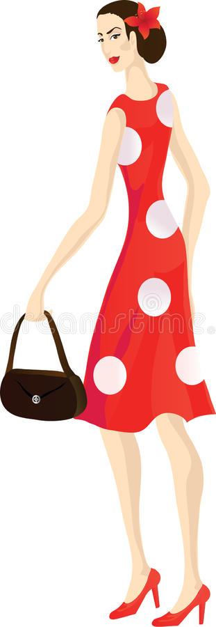 Download Fashionable vintage woman stock vector. Image of vintage - 24242192