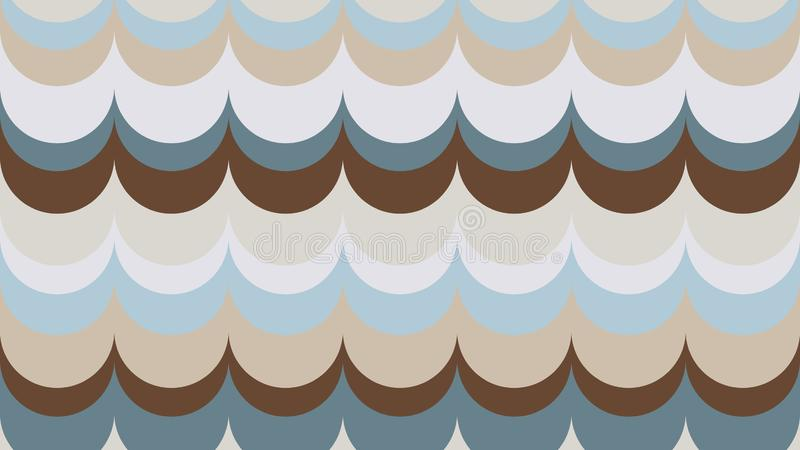 Fashionable, wavy, geometric background in shades of Emperador royalty free illustration
