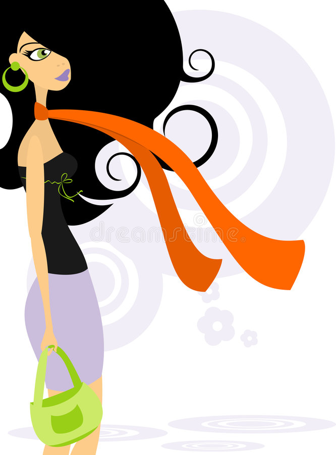 Fashionable woman 2 royalty free stock images