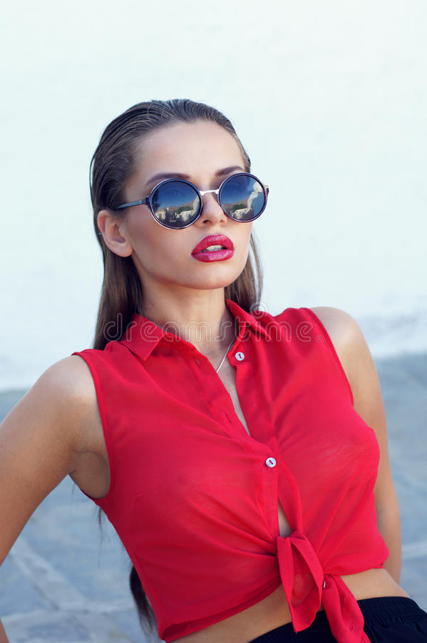 Download Fashionable woman stock photo. Image of bright, stylish - 27731168