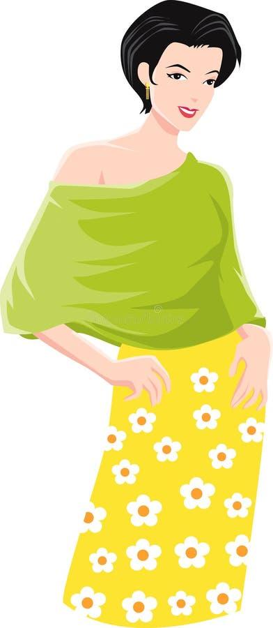 Download Fashionable woman stock illustration. Image of fashionable - 9256831