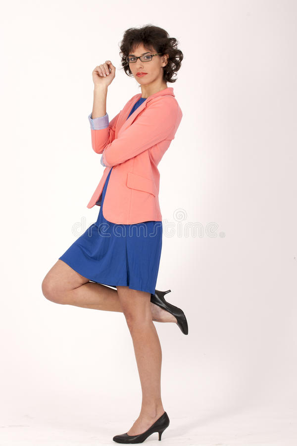Fashionable Woman With Glasses Stock Photos