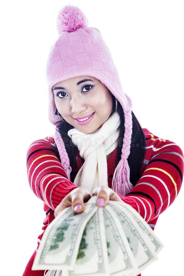 Download Fashionable Woman With Money Stock Photo - Image: 26996276