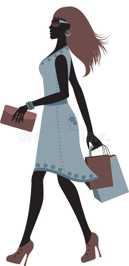 Download Fashionable Woman Shopping. Royalty Free Stock Photos - Image: 25600968