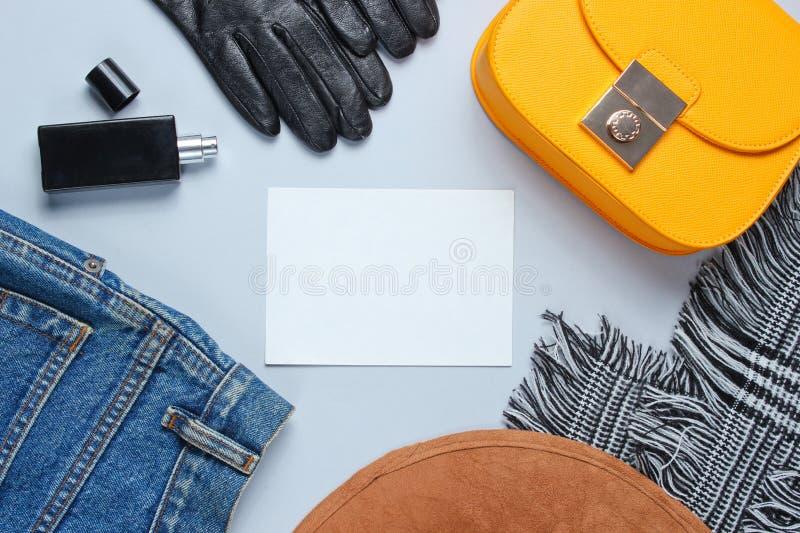 Fashionable women's clothing stock image