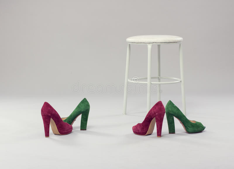 Fashionable women's shoes stock images