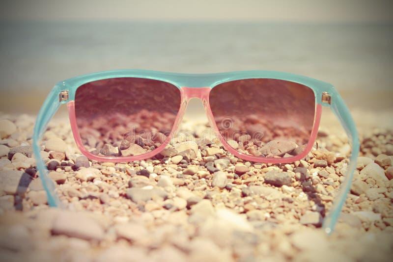 Fashionable women's sunglasses stock photography