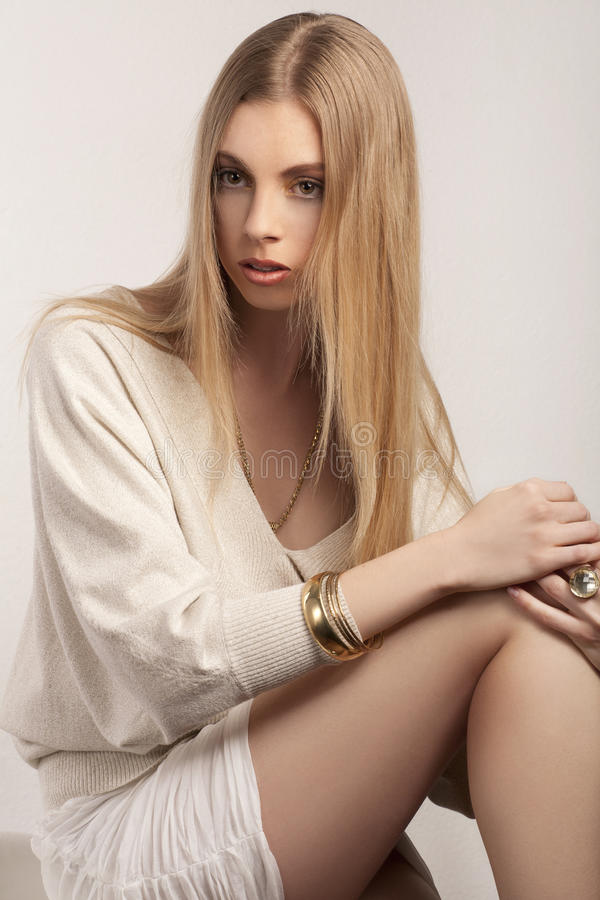 Download Fashionable Young Blond Woman Stock Image - Image: 25164127