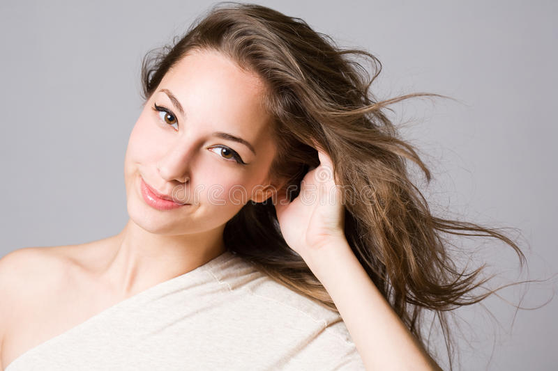 Download Fashionable Young Brunette Beauty. Stock Image - Image: 25578927