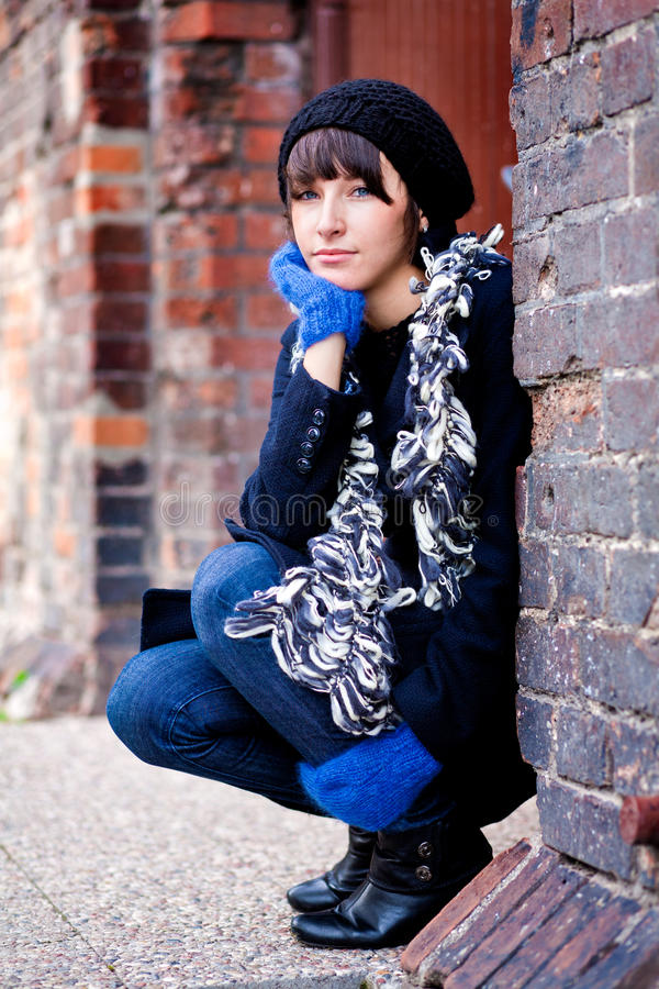 Download Fashionable young woman stock photo. Image of blue, autumn - 15781784