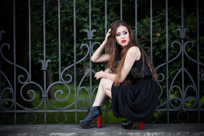 Download Fashionable young woman stock photo. Image of elegant - 25478078