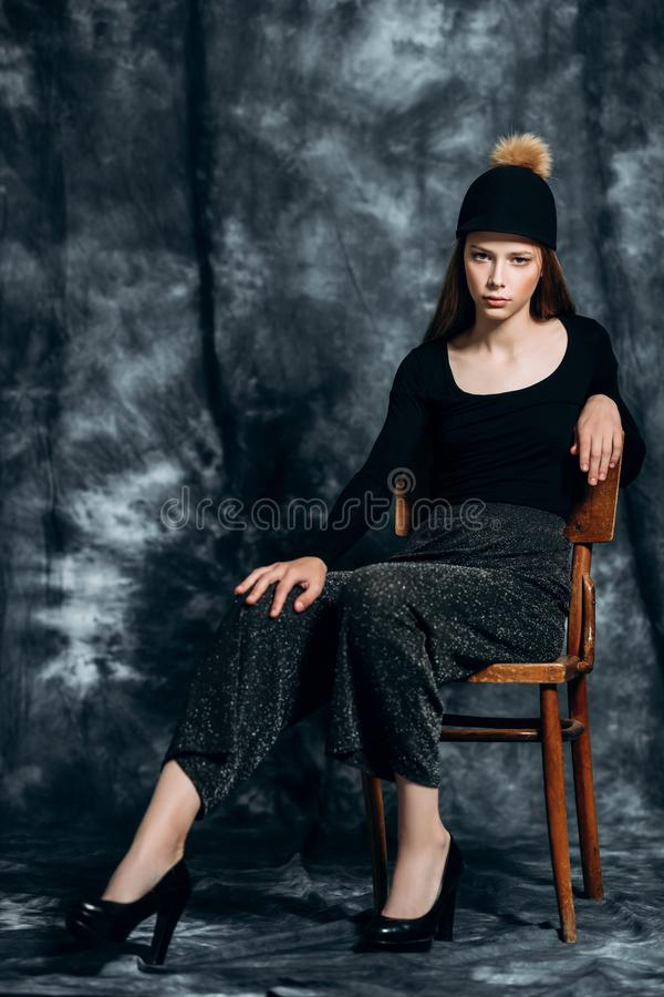 Fashionable young woman royalty free stock photos