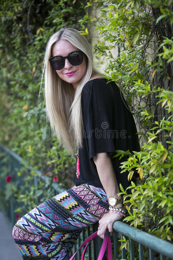 Fashionable young woman stock photography