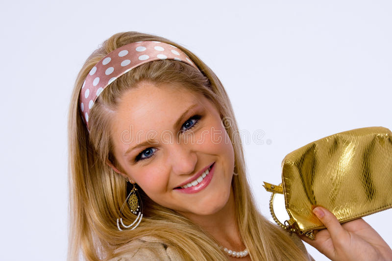 Download Fashionable Young Woman Smiles At Camera. Stock Image - Image: 14858651