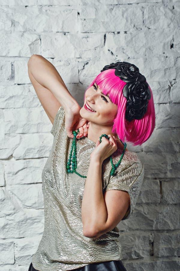 Fashionista avec des perles image libre de droits