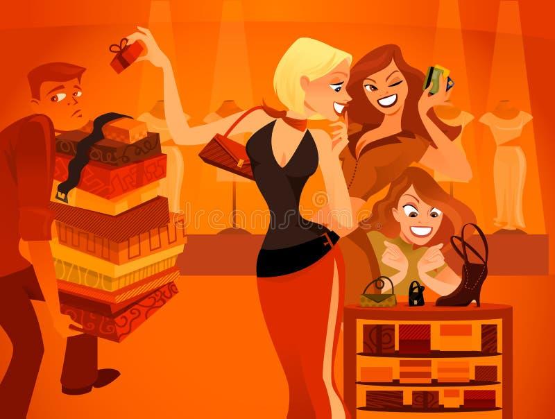 Fashionistas illustration de vecteur