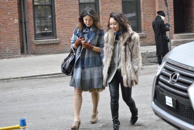 Fashionweek New York City am 14. Februar 2015 lizenzfreies stockfoto