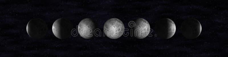 Fasi della luna illustrazione vettoriale