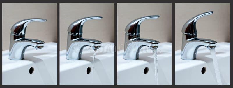 Fasi delle acque di rubinetto immagine stock