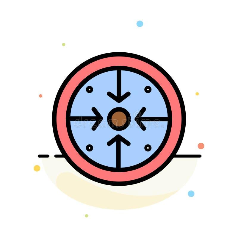 Fasi, scopi, implementazione, operazione, modello piano dell'icona di colore dell'estratto di processo illustrazione di stock