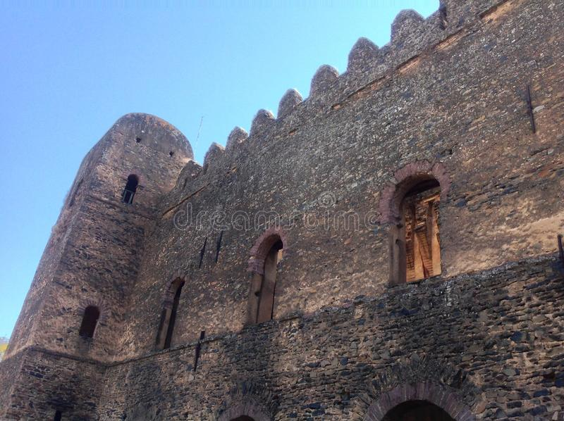 Fasil Castle Gondar Ethiopia. In the 16th and 17th centuries, the fortress-city of Fasil Ghebbi was the residence of the Ethiopian emperor Fasilides and his royalty free stock photos
