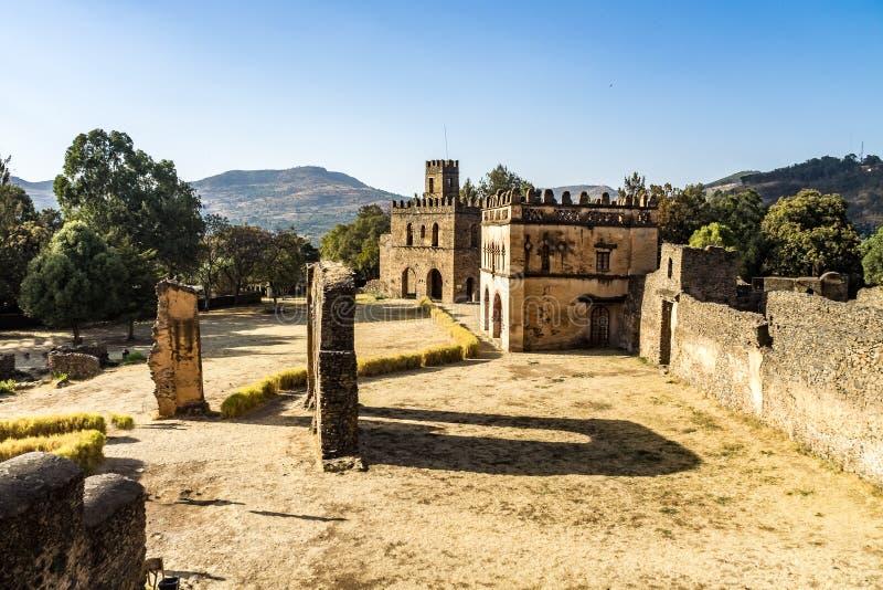 Fasil Ghebbi ? as sobras de uma fortaleza-cidade dentro de Gondar, Eti?pia foto de stock royalty free