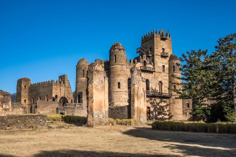 Fasil Ghebbi ? as sobras de uma fortaleza-cidade dentro de Gondar, Eti?pia imagens de stock royalty free