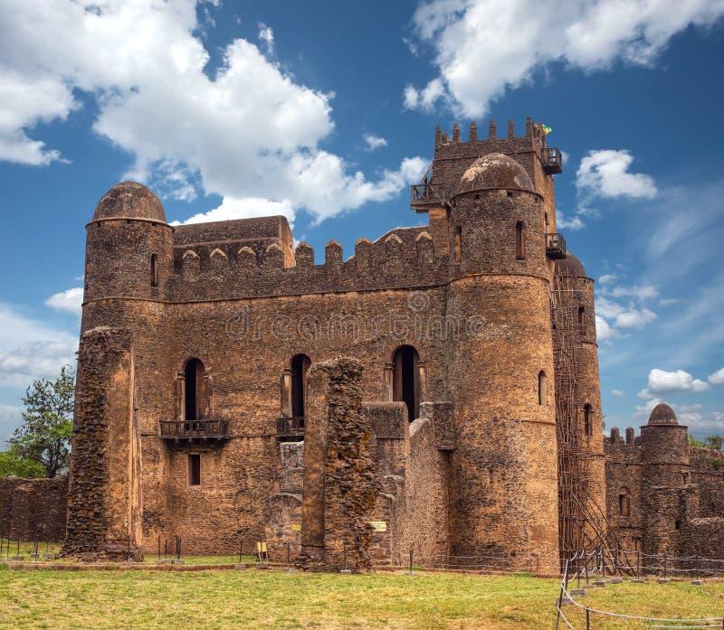 Fasil Ghebbi, castle in Gondar, Ethipia Heritage royalty free stock images