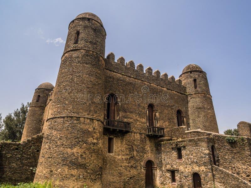 Fasil Ghebbi em Gondar, Etiópia imagens de stock royalty free