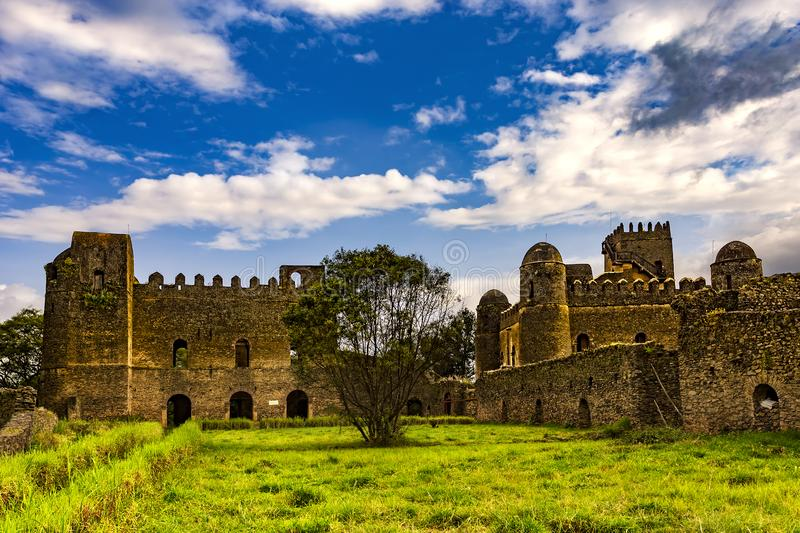 Fasil Ghebbi, Gondar photo stock