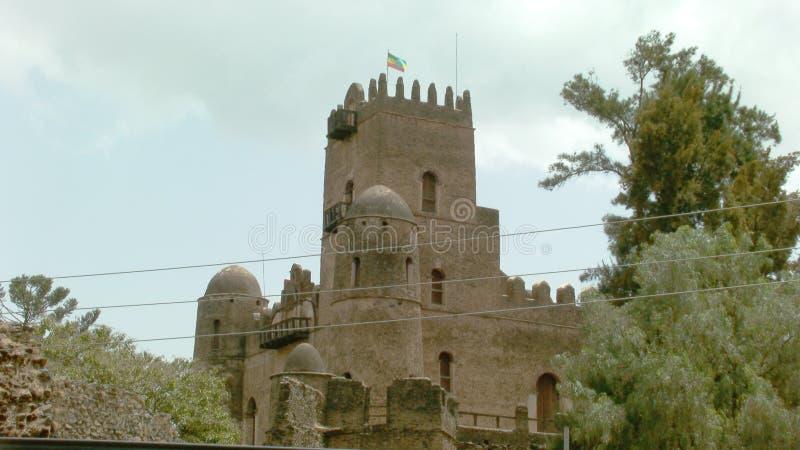 Fasil Ghebbi: residenza dell'imperatore etiopico Fasilides e dei suoi successori fotografia stock libera da diritti